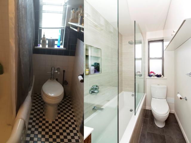 Embellissement d'une salle de bain avec toilette